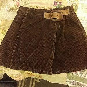 Blue Asphalt wrap around skirt